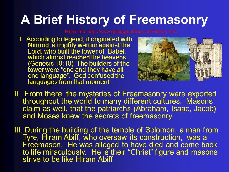 A Brief History of Freemasonry
