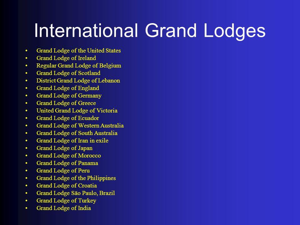 International Grand Lodges