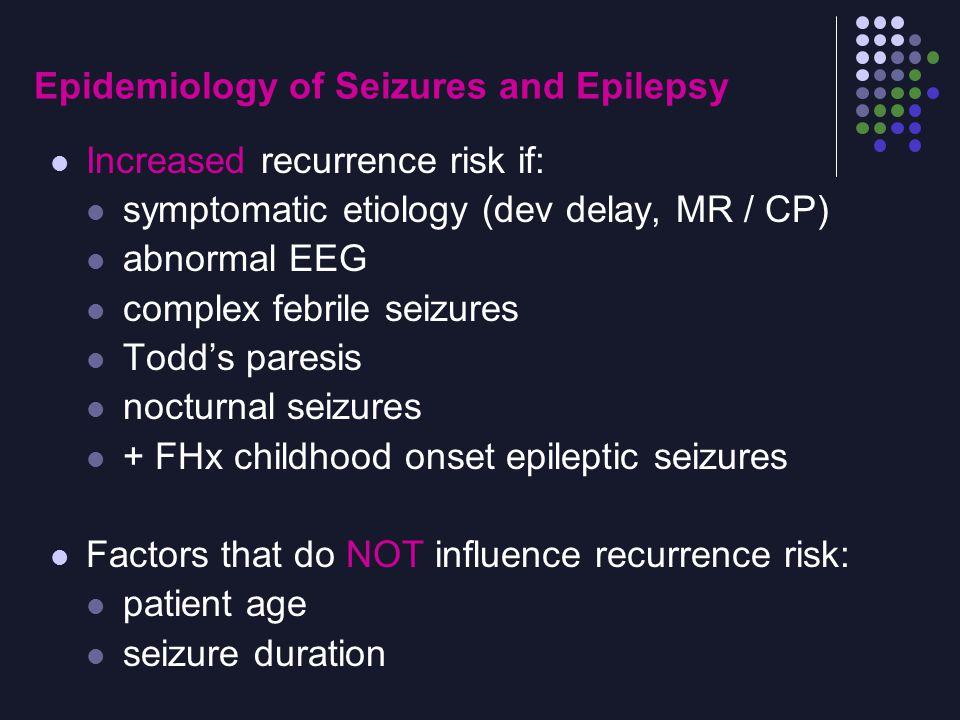 Epidemiology of Seizures and Epilepsy