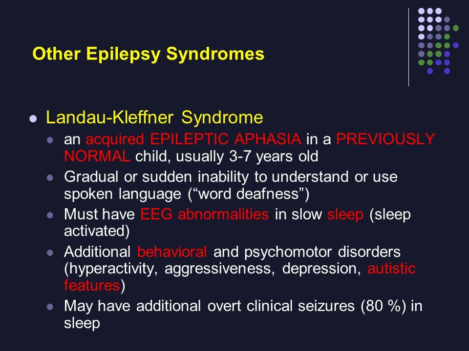 Other Epilepsy Syndromes