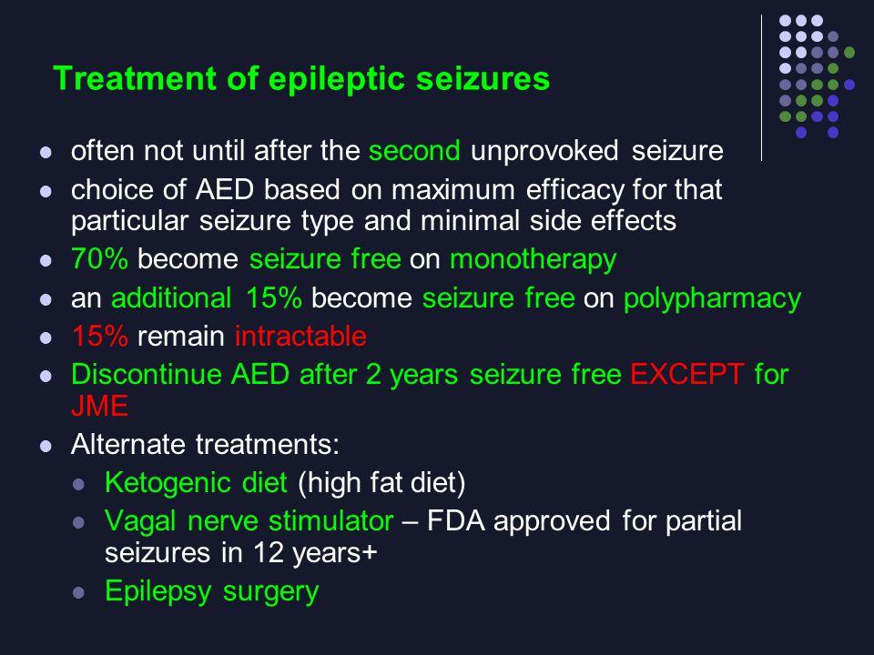Treatment of epileptic seizures