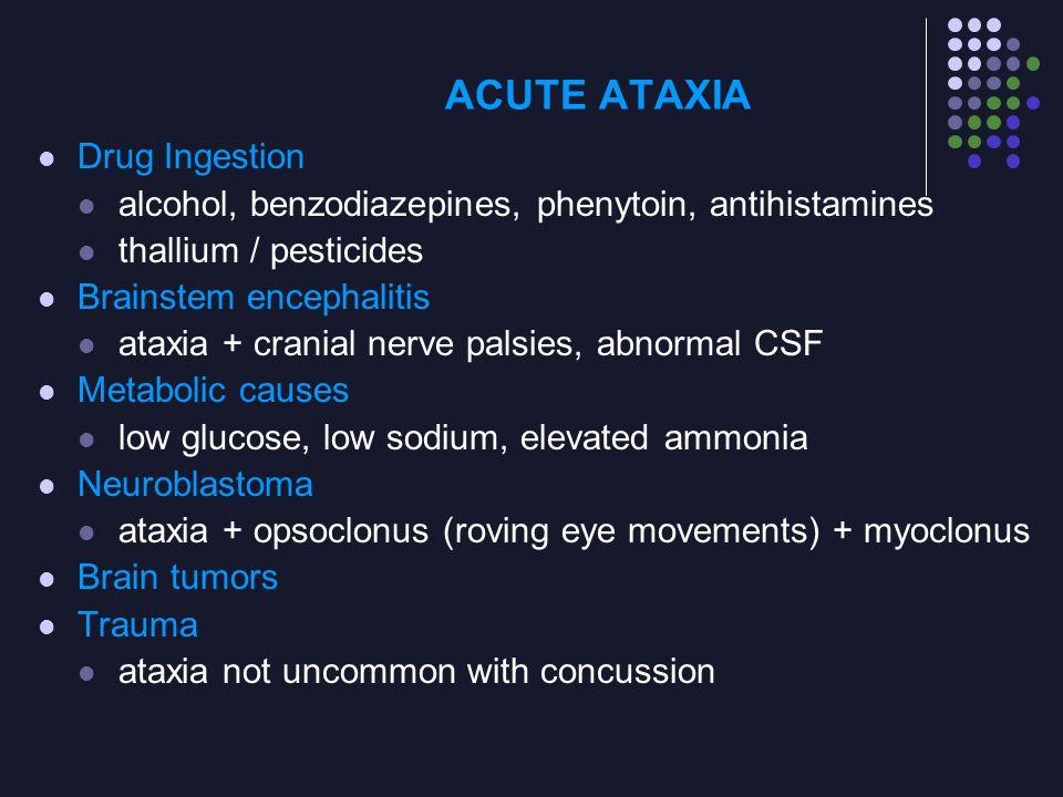 ACUTE ATAXIA Drug Ingestion