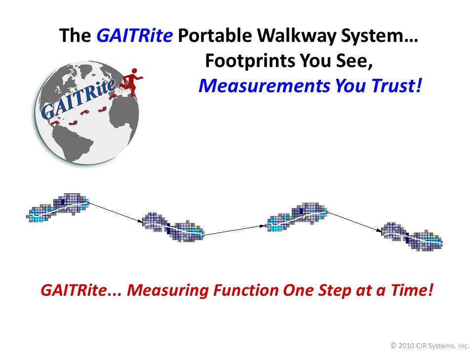 The GAITRite Portable Walkway System…
