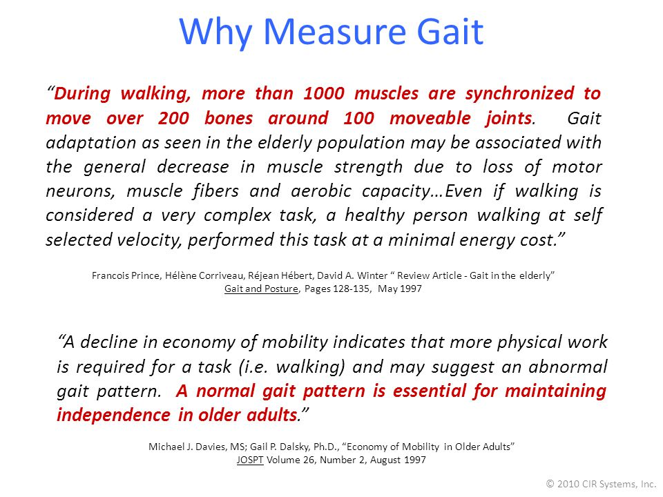 Why Measure Gait