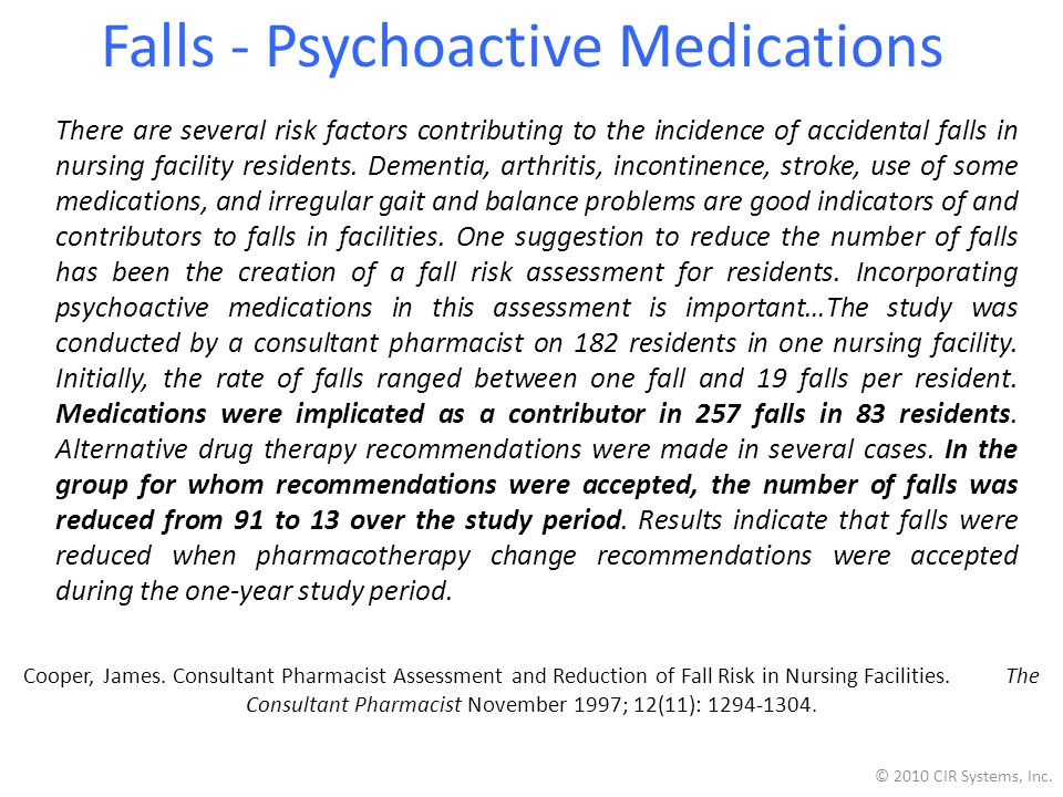 Falls - Psychoactive Medications