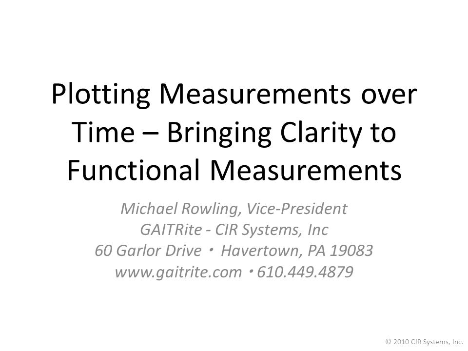 Plotting Measurements over Time – Bringing Clarity to Functional Measurements
