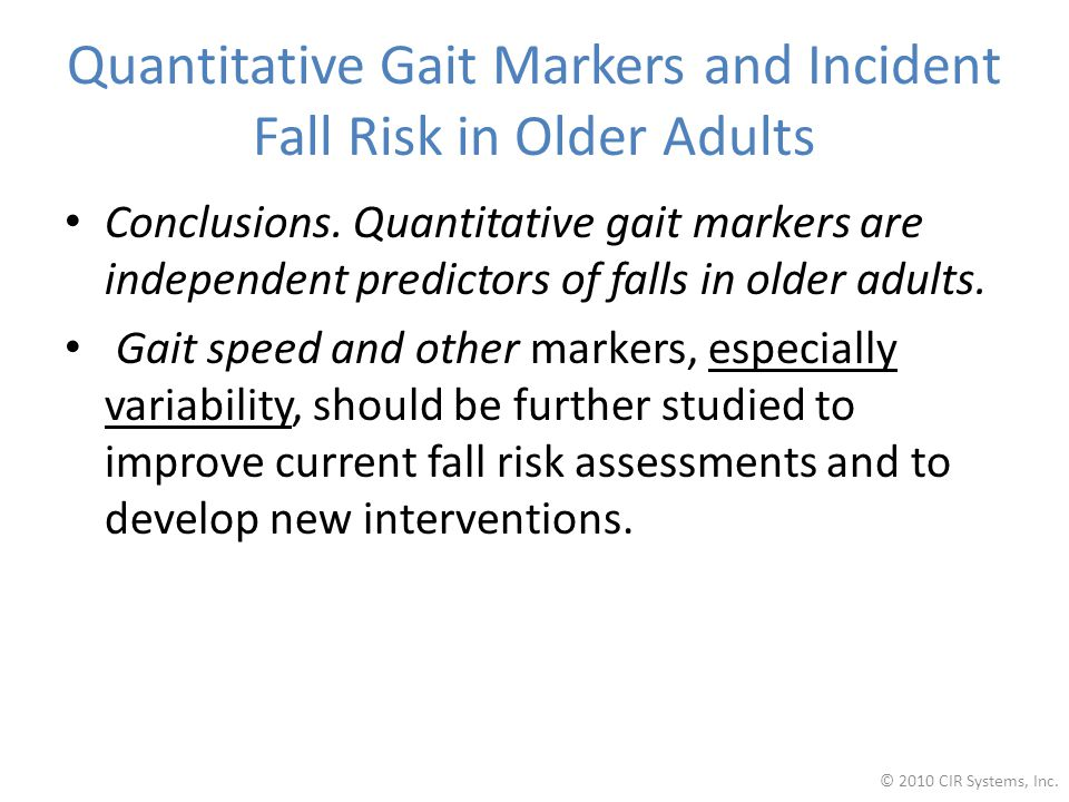 Quantitative Gait Markers and Incident Fall Risk in Older Adults
