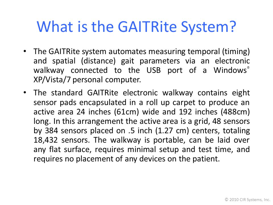 What is the GAITRite System