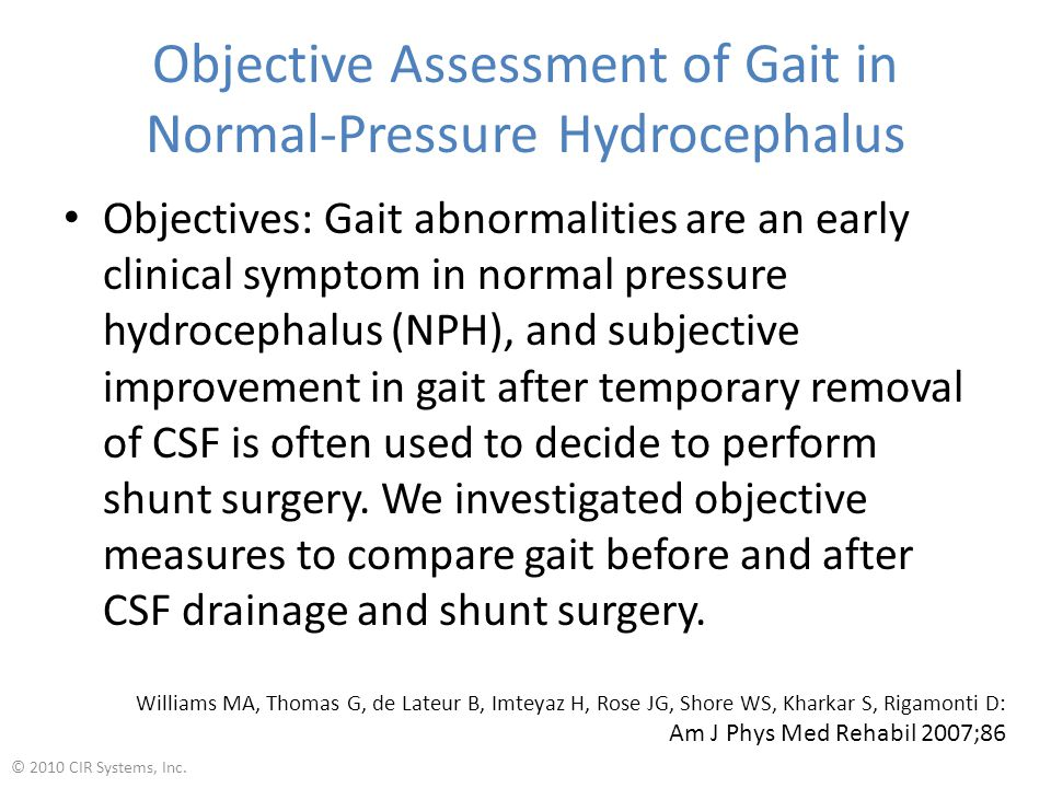 Objective Assessment of Gait in Normal-Pressure Hydrocephalus