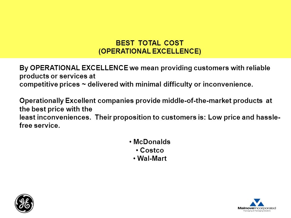 (OPERATIONAL EXCELLENCE)