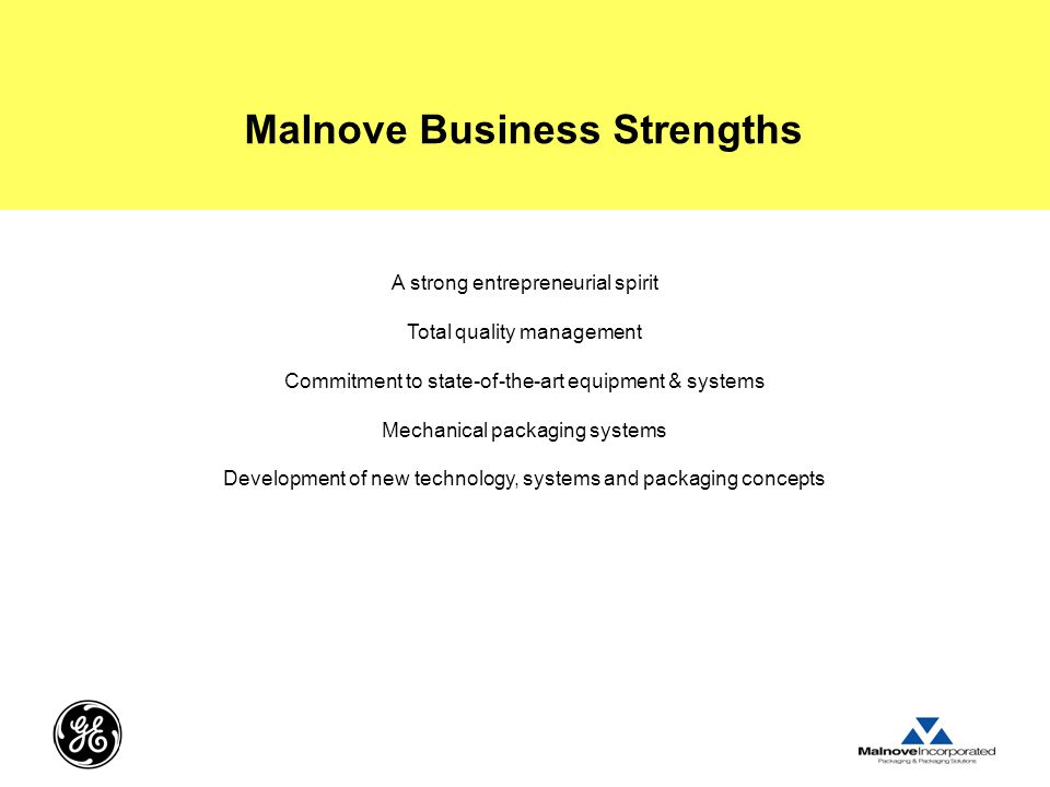 Malnove Business Strengths