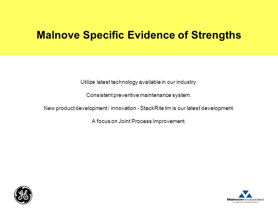 Malnove Specific Evidence of Strengths
