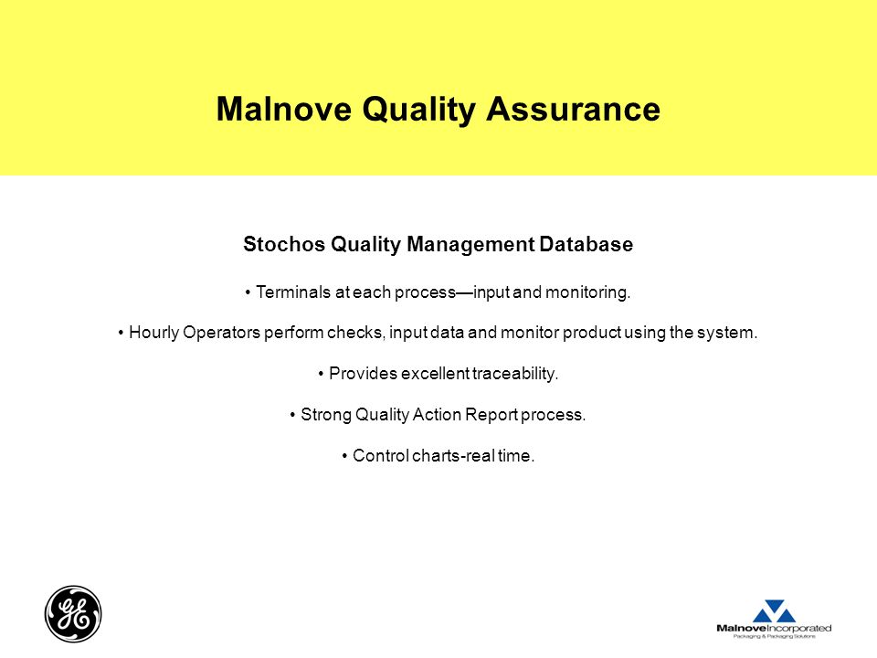 Malnove Quality Assurance Stochos Quality Management Database