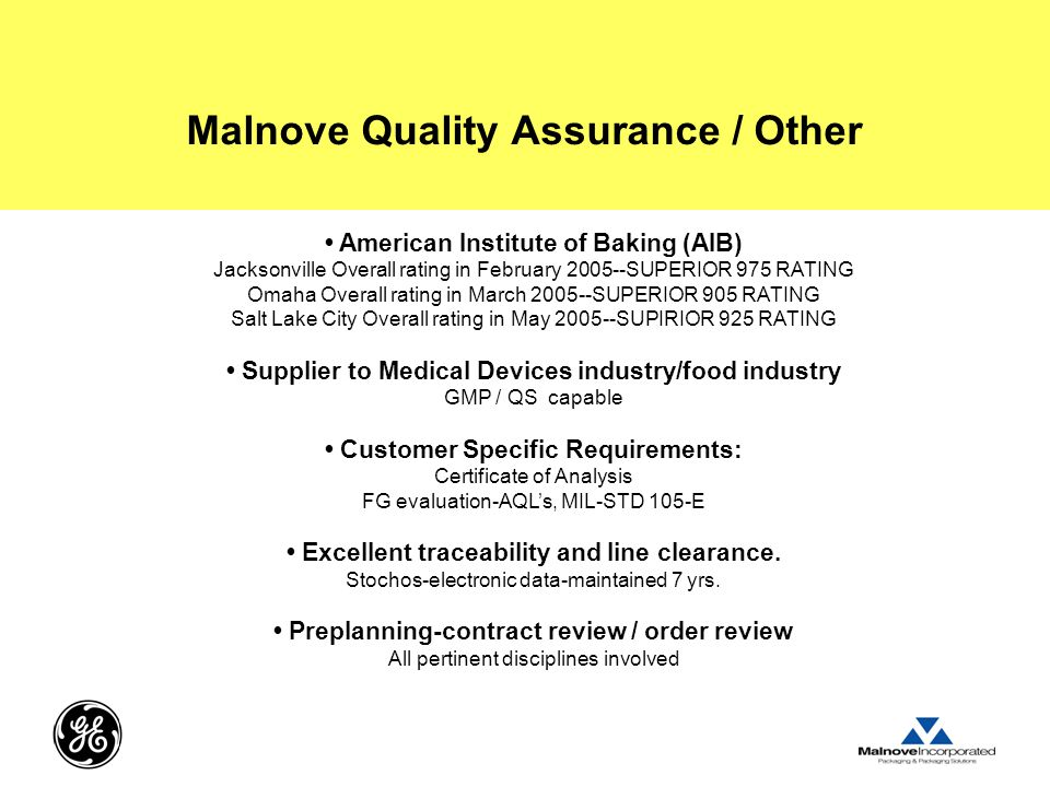 Malnove Quality Assurance / Other