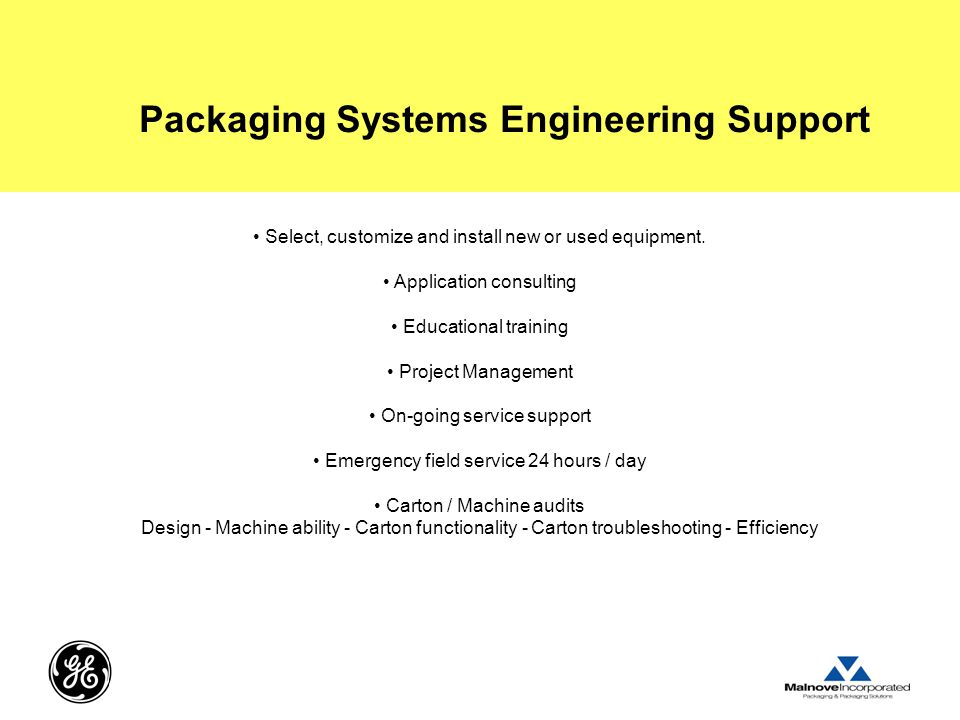 Packaging Systems Engineering Support