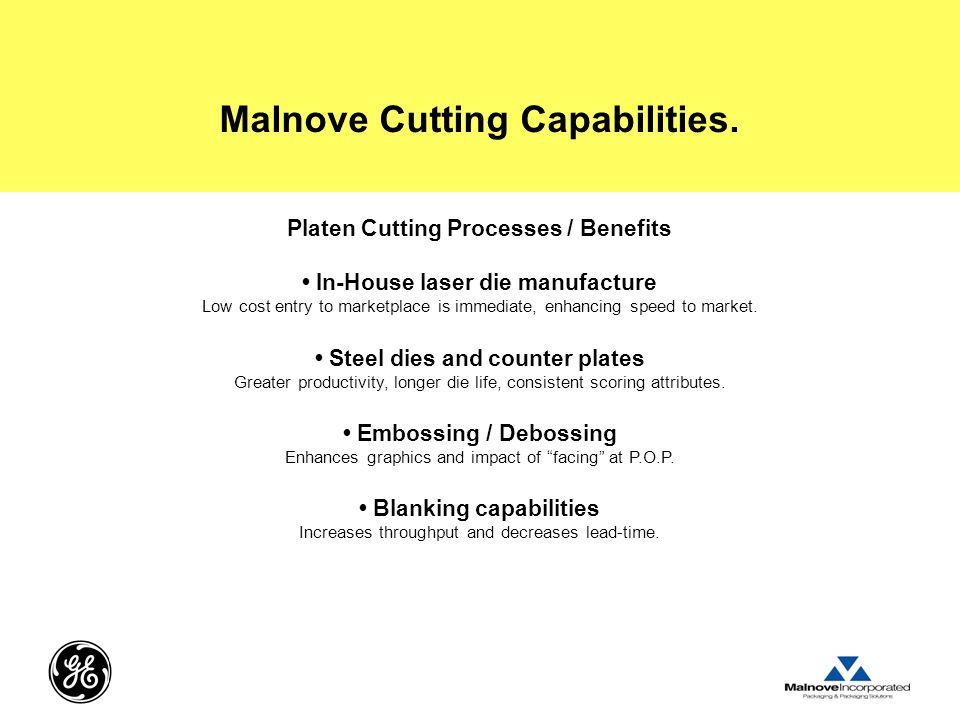 Malnove Cutting Capabilities.