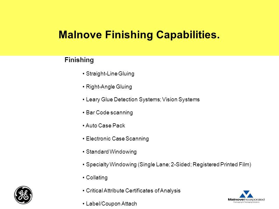 Malnove Finishing Capabilities.