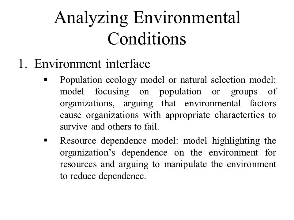 Analyzing Environmental Conditions