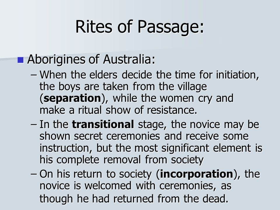 Rites of Passage: Aborigines of Australia: