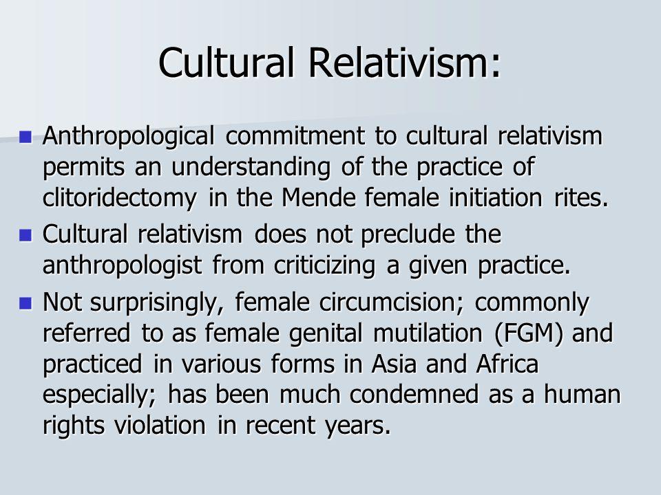 Cultural Relativism: