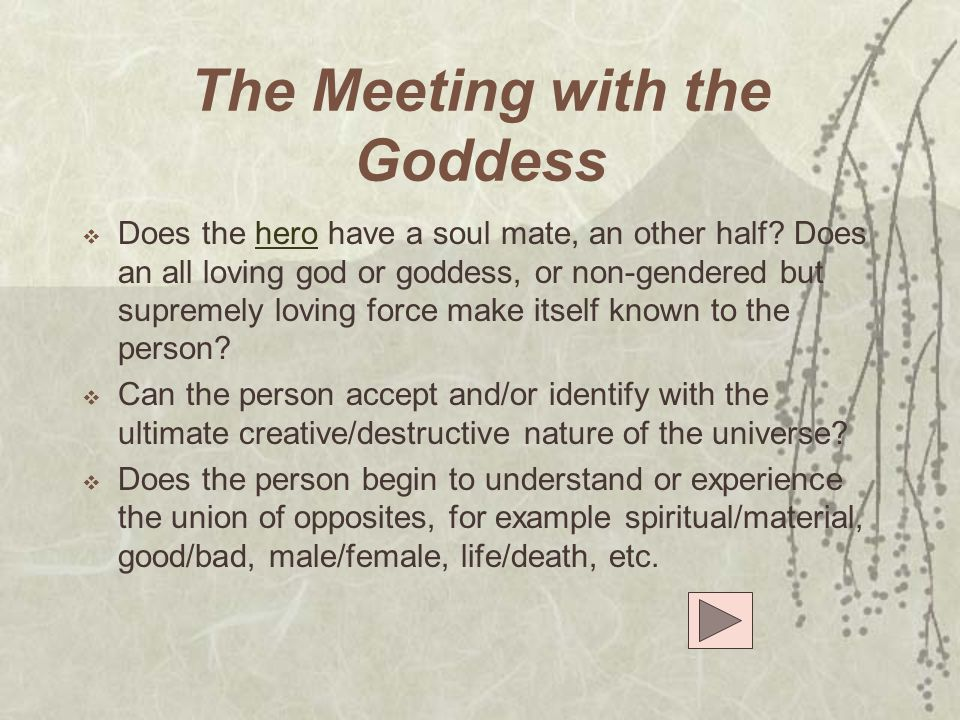 The Meeting with the Goddess