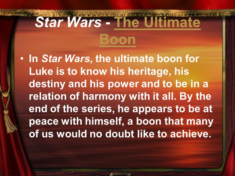 Star Wars - The Ultimate Boon