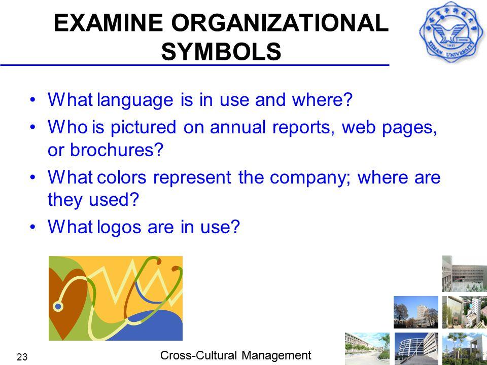 EXAMINE ORGANIZATIONAL SYMBOLS