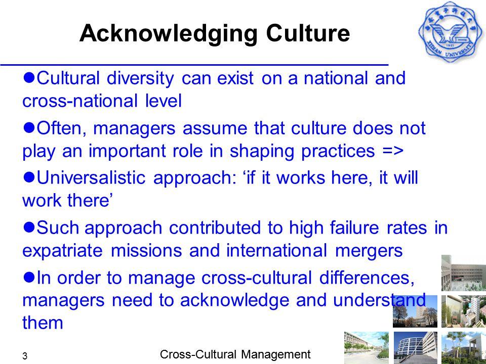 Acknowledging Culture
