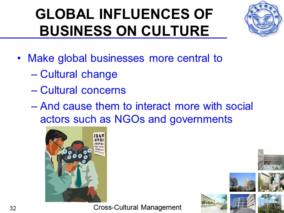 GLOBAL INFLUENCES OF BUSINESS ON CULTURE