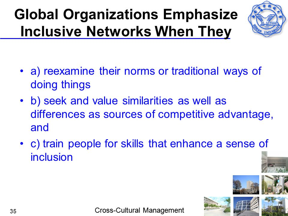 Global Organizations Emphasize Inclusive Networks When They