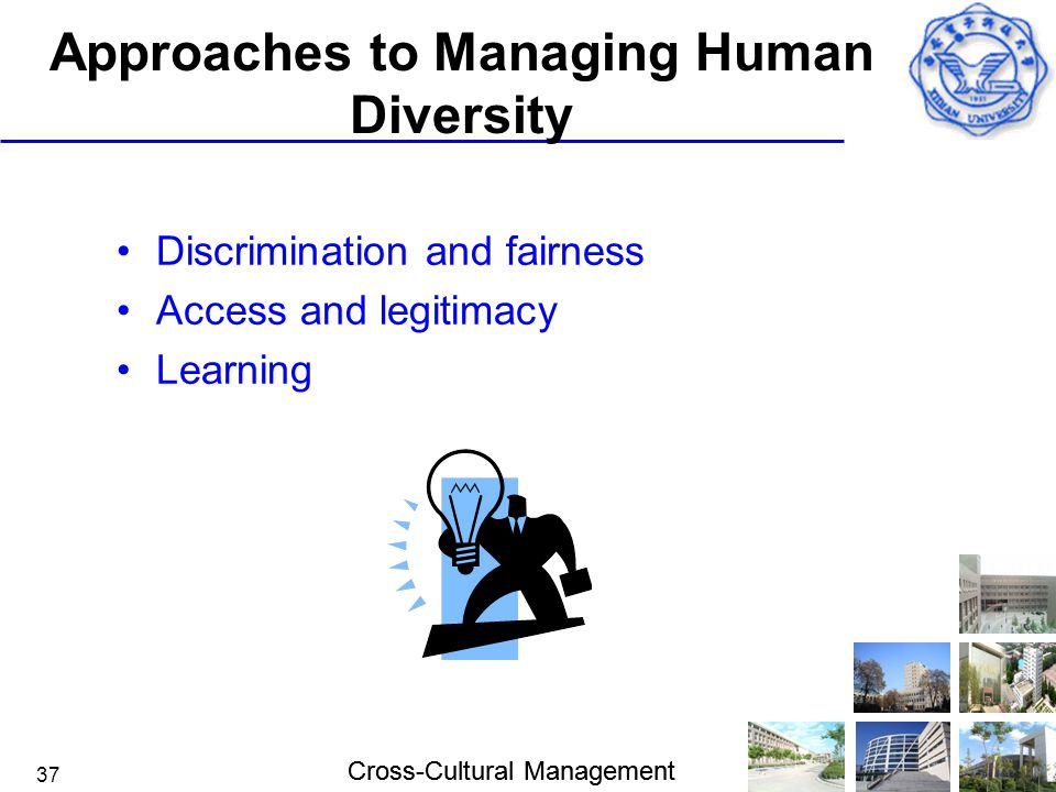 Approaches to Managing Human Diversity