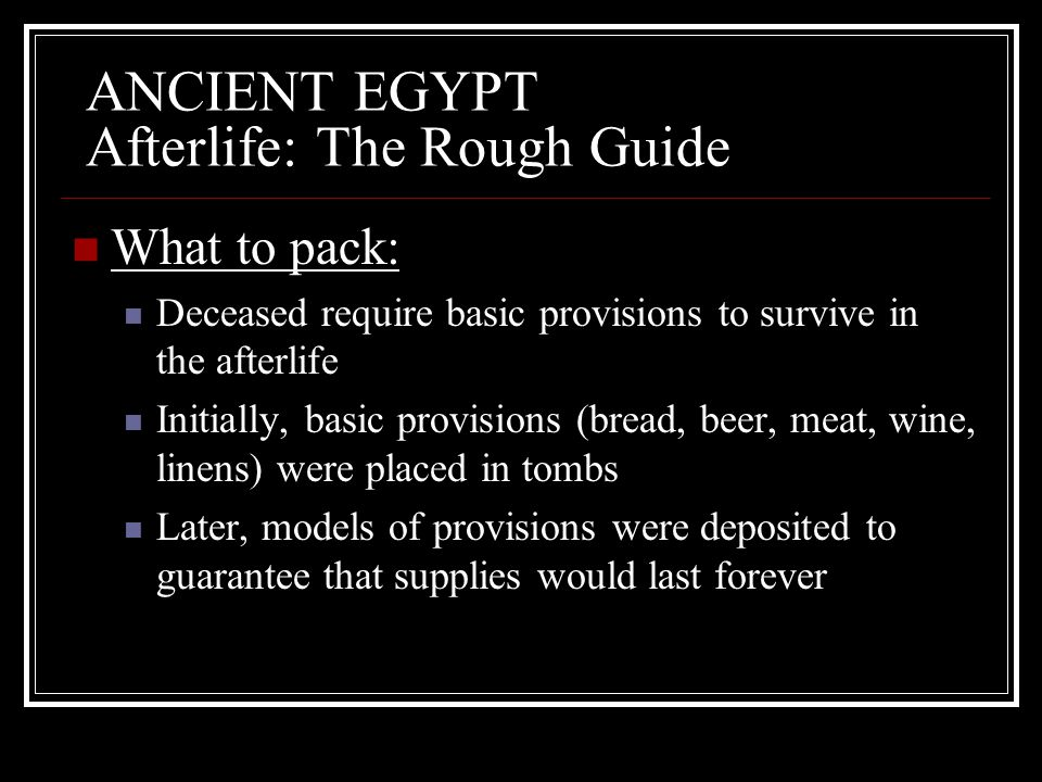 ANCIENT EGYPT Afterlife: The Rough Guide