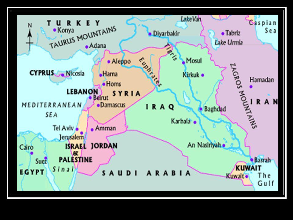 Modern map of same area