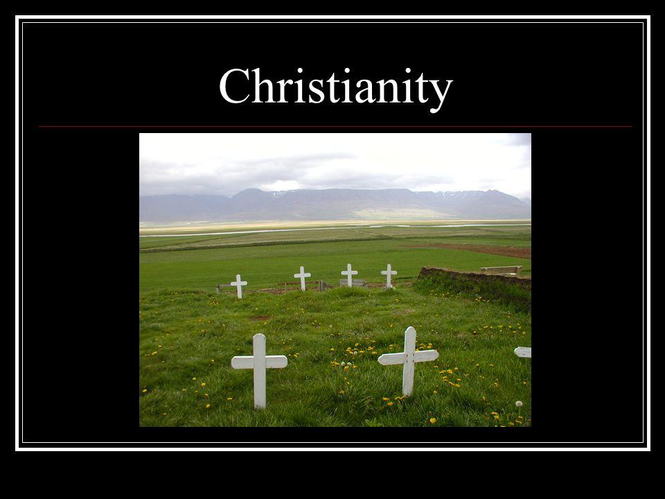 Christianity Church graveyard in rural Iceland