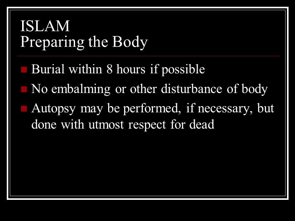 ISLAM Preparing the Body