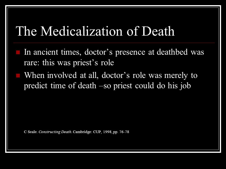 The Medicalization of Death