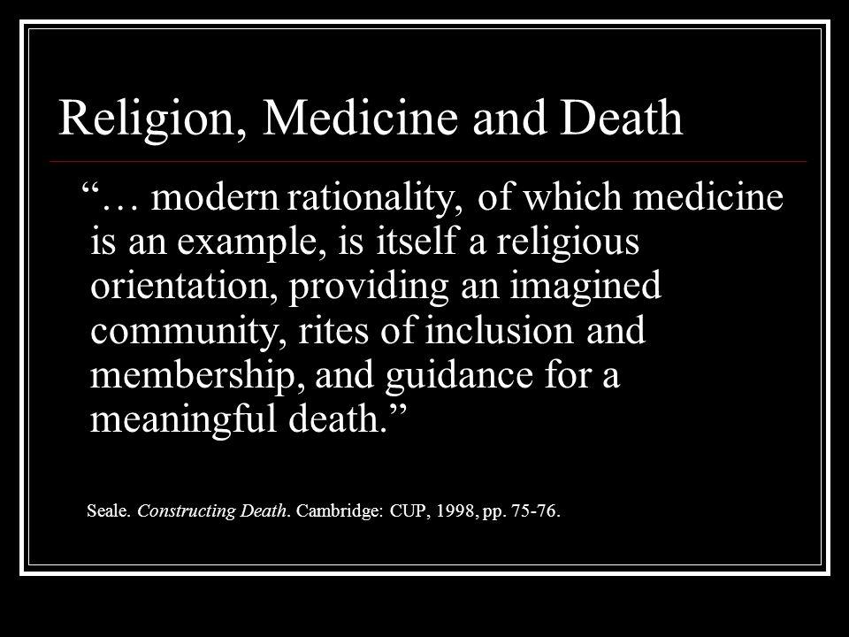 Religion, Medicine and Death