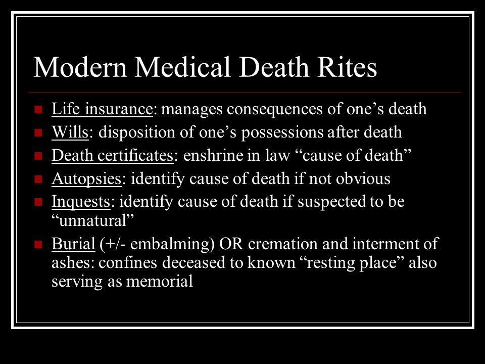 Modern Medical Death Rites