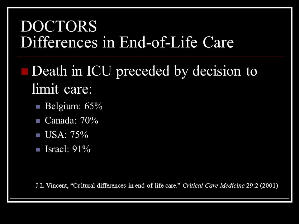 DOCTORS Differences in End-of-Life Care