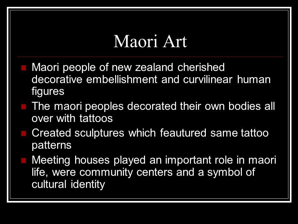 Maori Art Maori people of new zealand cherished decorative embellishment and curvilinear human figures.