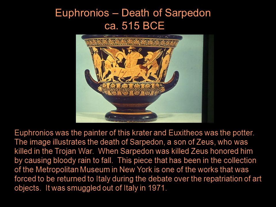 Euphronios – Death of Sarpedon