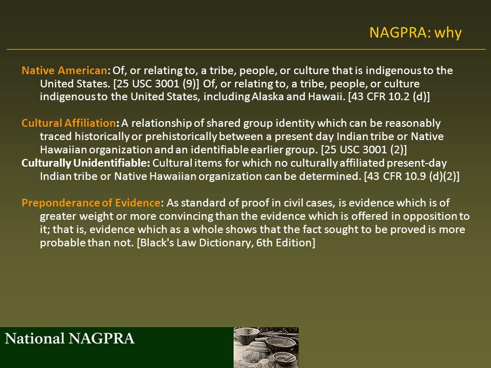 NAGPRA: why