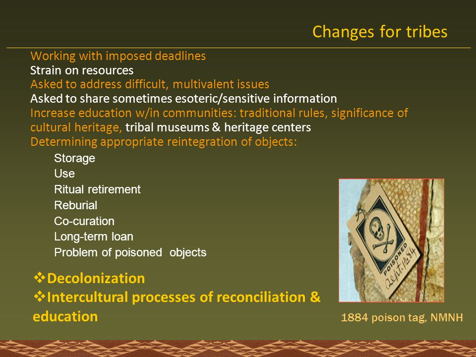 Changes for tribes Decolonization