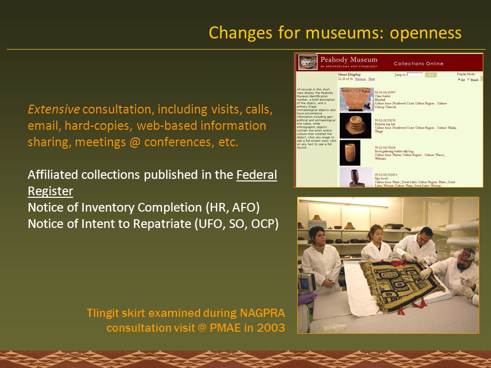 Changes for museums: openness