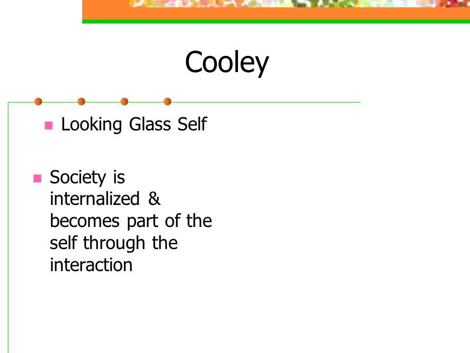 Cooley Looking Glass Self