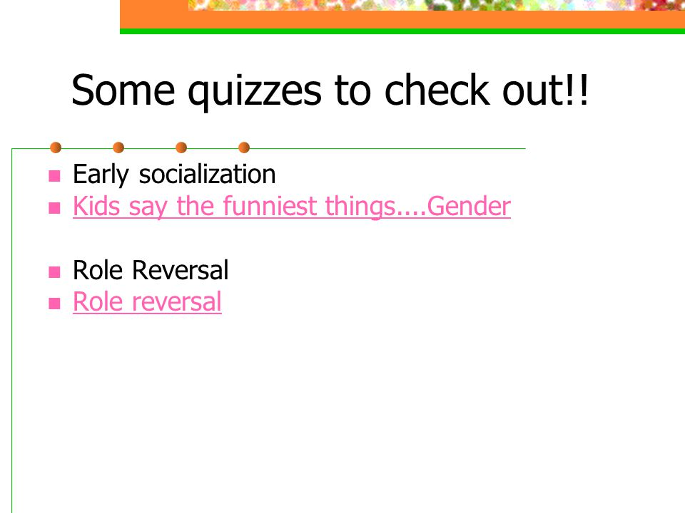 Some quizzes to check out!!