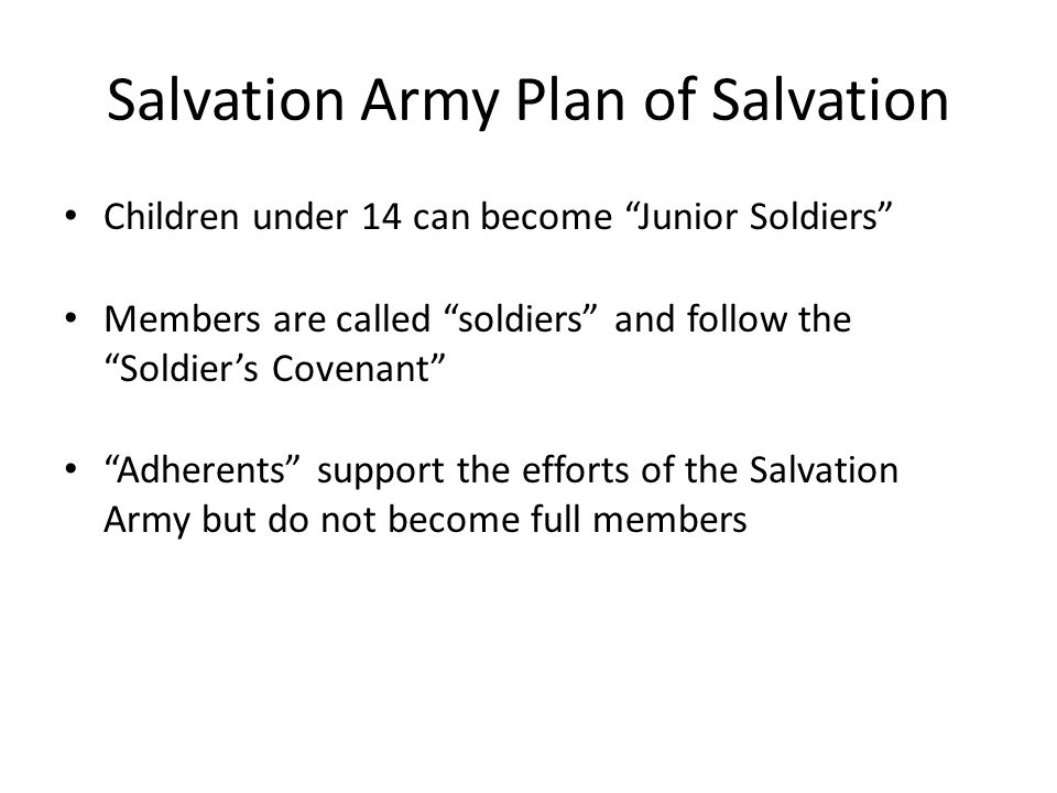 Salvation Army Plan of Salvation