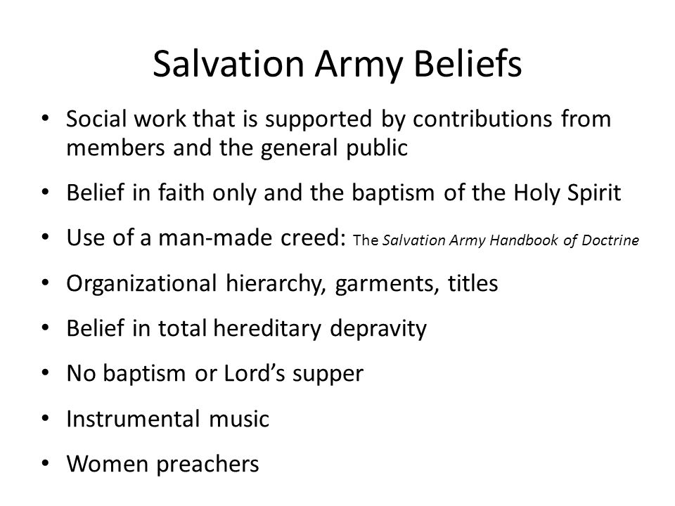 Salvation Army Beliefs