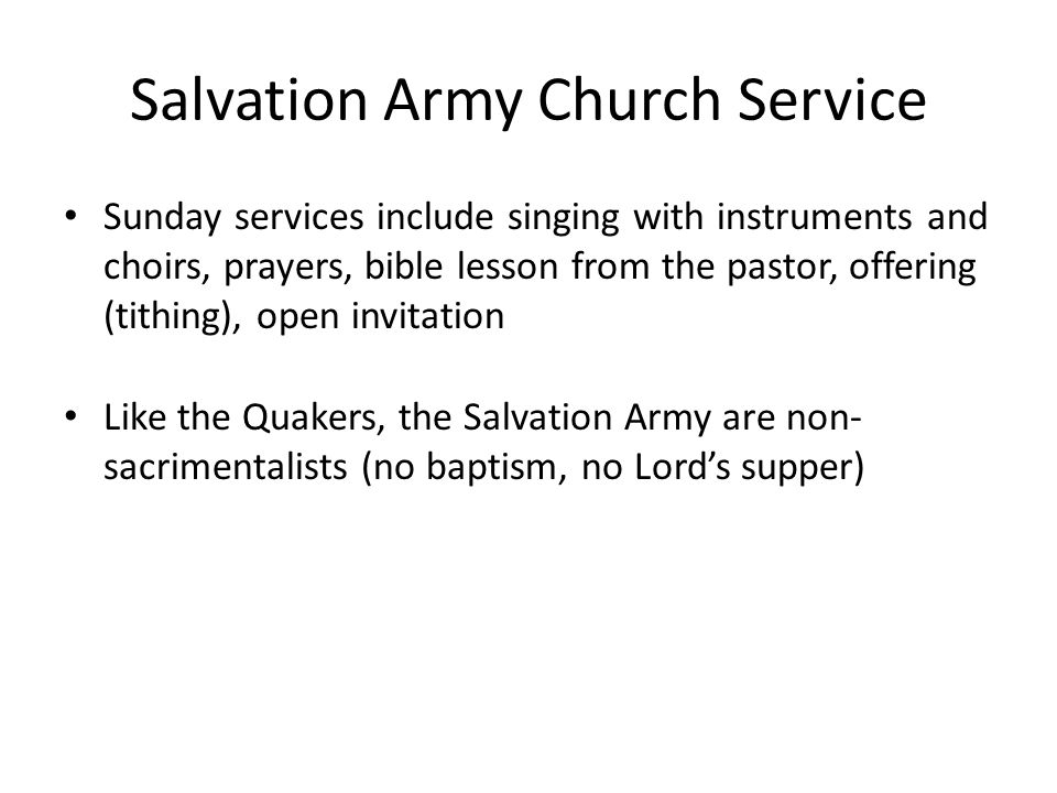 Salvation Army Church Service