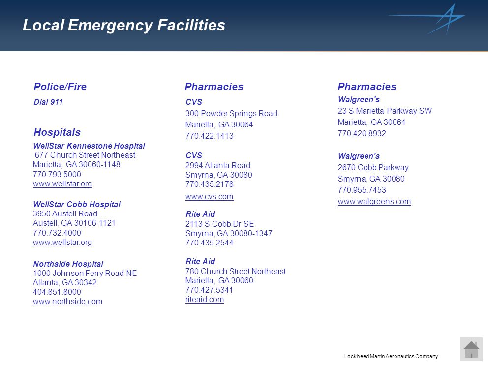 Local Emergency Facilities